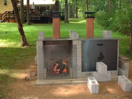 backyard bbq pit ideas bbq lodge pit barbecue